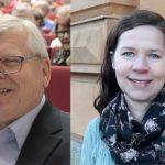 Jorma Hämäläinen (kuva: Tarja Kärkkäinen) ja Kristiina Syrjäsuo ovat Kotiseutuliiton hallituksen uudet jäsenet.