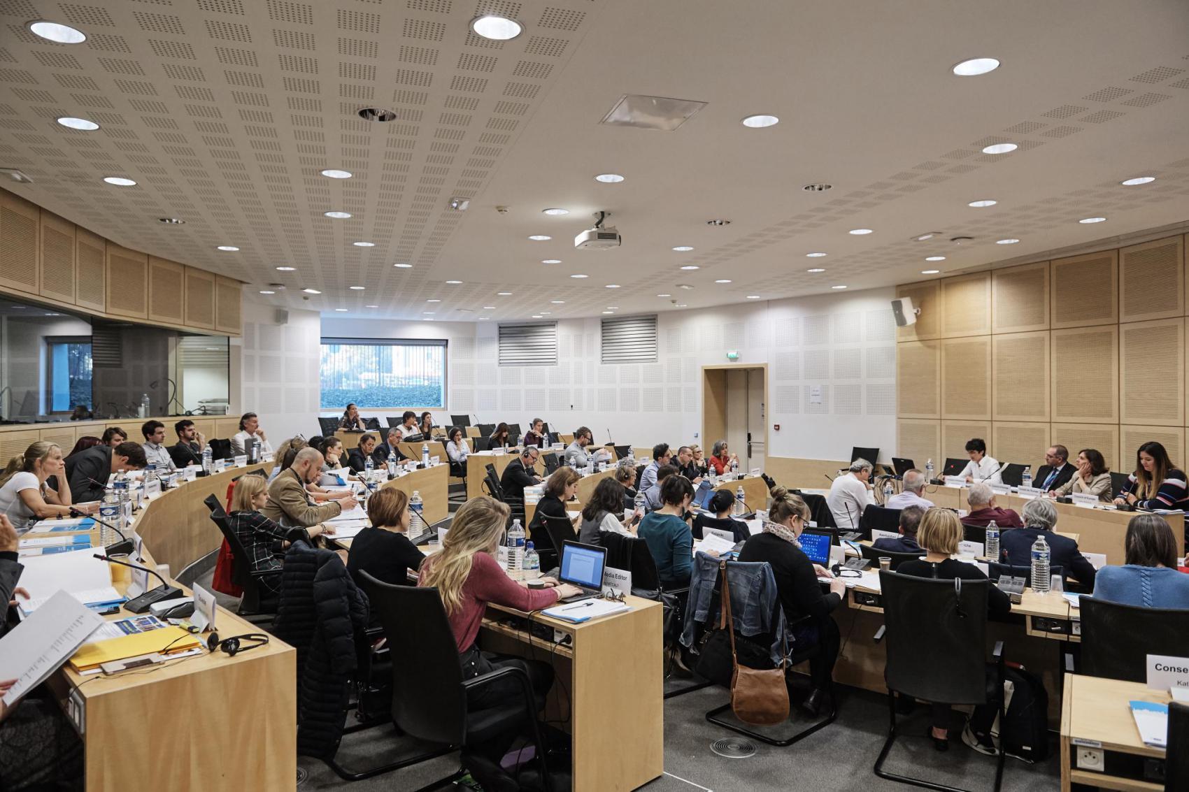 EHD-kokousedustajat Strasbourgissa 18.10.2017. Kuva: Euroopan neuvosto.