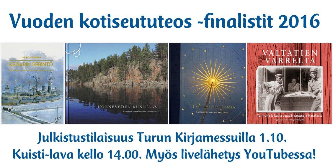 Vuoden kotiseututeos -finalistit 2016