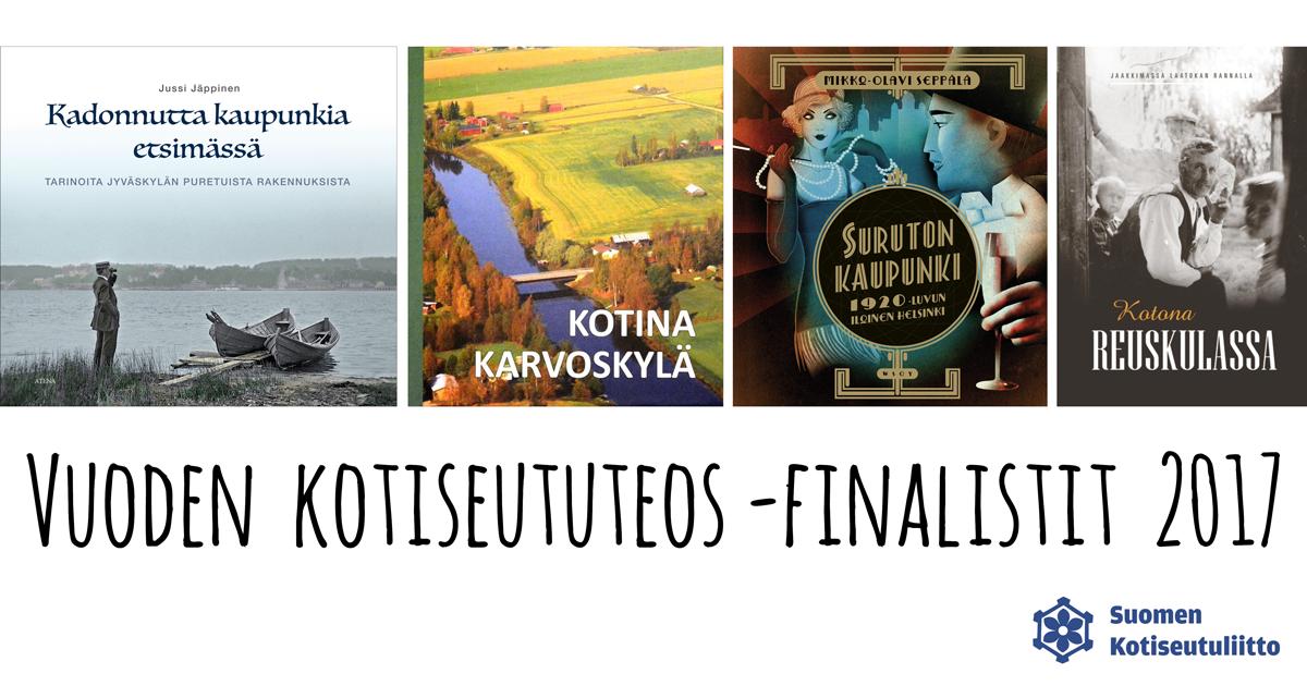 Vuoden kotiseututeos -finalistit 2017