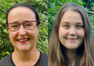 Jaana Merenmiehen ja Roosa Lindholmin kasvokuvat.