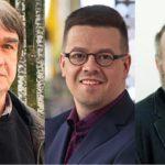 Seppo Knuuttilan, Teppo Ylitalon ja Lassi Saressalon rintakuvat.